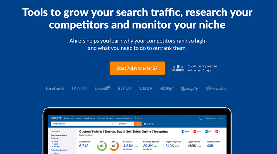 ahrefs for broken link building