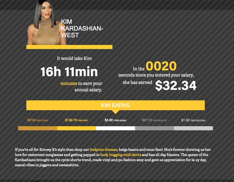 kim kardashian salary tool