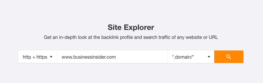 site explorer for broken link building