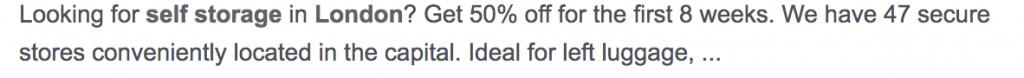 example of an optimised meta description